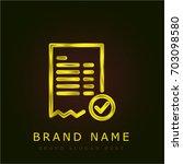 invoice golden metallic logo