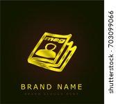 magazine golden metallic logo
