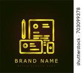 stationery golden metallic logo