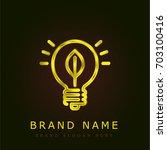 light bulb golden metallic logo