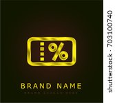 coupon golden metallic logo