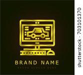diagnostic golden metallic logo