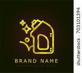 detergent golden metallic logo
