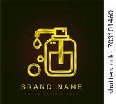 liquid soap golden metallic logo   Shutterstock .eps vector #703101460