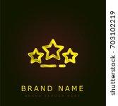 rating golden metallic logo