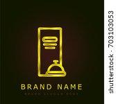menu golden metallic logo
