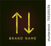 sort golden metallic logo