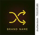 shuffle golden metallic logo