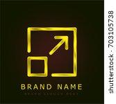 expand golden metallic logo