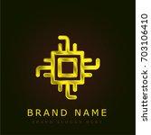 chip golden metallic logo