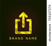 share golden metallic logo