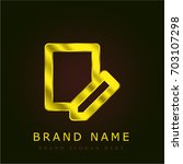 register golden metallic logo