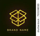 box golden metallic logo