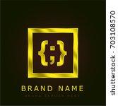custom css golden metallic logo