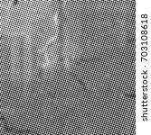 grunge halftone black and white.... | Shutterstock . vector #703108618