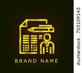resume golden metallic logo