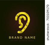 ear golden metallic logo