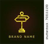 street golden metallic logo