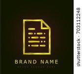 document golden metallic logo   Shutterstock .eps vector #703112248