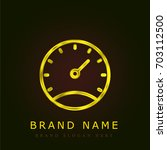stopwatch golden metallic logo