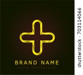 add golden metallic logo