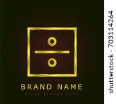 divide golden metallic logo