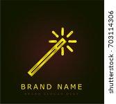 magic wand golden metallic logo