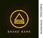eject golden metallic logo