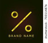 percent golden metallic logo