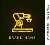 machinery golden metallic logo