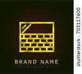 wall golden metallic logo