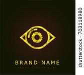 iris golden metallic logo