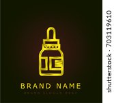 eye drops golden metallic logo