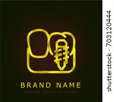 implants golden metallic logo