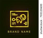 records golden metallic logo