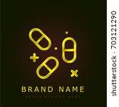pills golden metallic logo