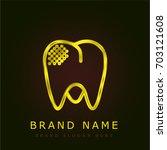 molar golden metallic logo