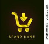 add to cart golden metallic logo