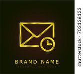 mail golden metallic logo