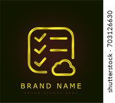 list golden metallic logo