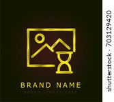 image golden metallic logo