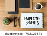 employee benefits  technology... | Shutterstock . vector #703129576