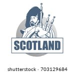 player of the great scottish... | Shutterstock .eps vector #703129684