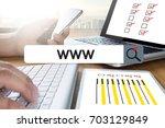 www website online internet web ... | Shutterstock . vector #703129849
