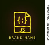 javascript golden metallic logo