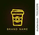 coffee golden metallic logo | Shutterstock .eps vector #703130398