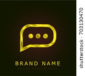 comment golden metallic logo