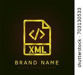 xml golden metallic logo | Shutterstock .eps vector #703130533