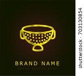 strainer golden metallic logo