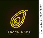avocado golden metallic logo